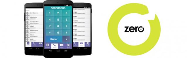La aplicación móvil ZeroApp