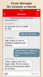 Firechat app para comunicarse sin internet