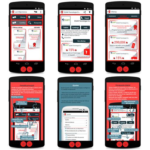 Diseño de la App Los 100 primeros