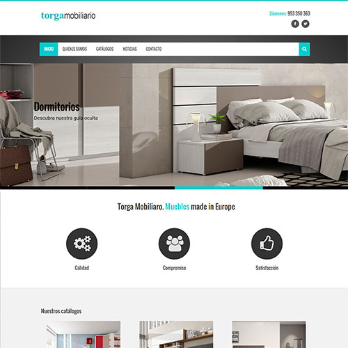 Página web Torga mobiliario