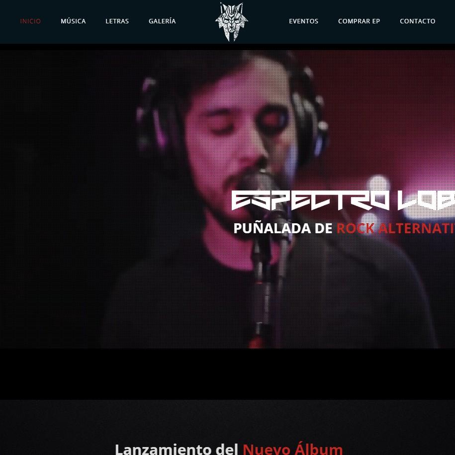 Página web Espectro lobo