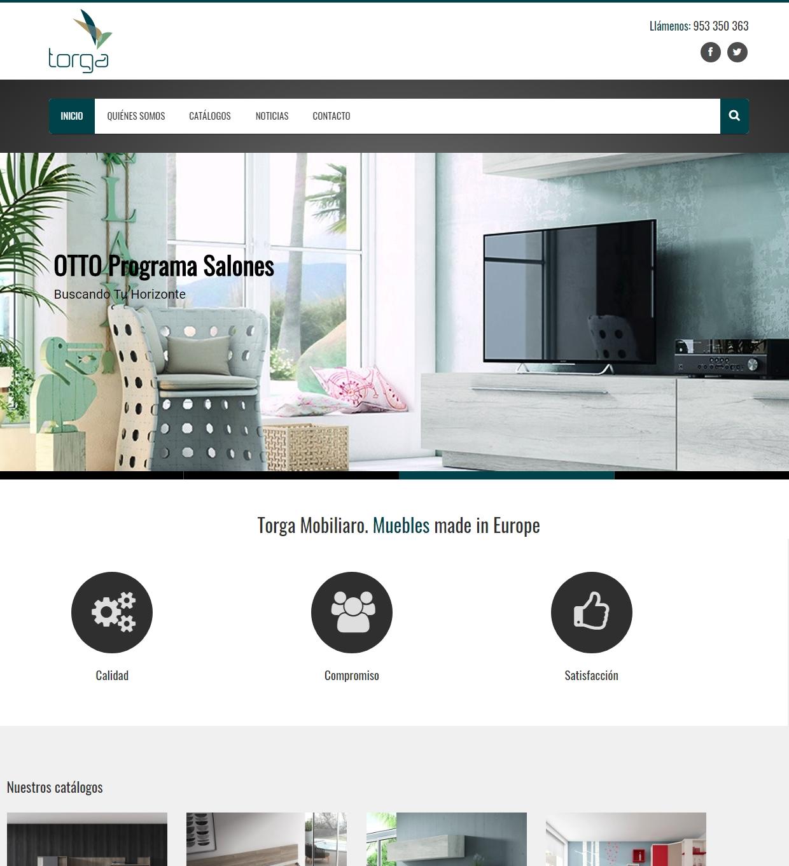 P gina web torga mobiliario quatresoft servicios internet for Paginas muebles