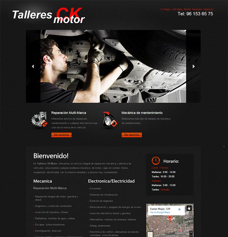 Página web de talleres ck motor