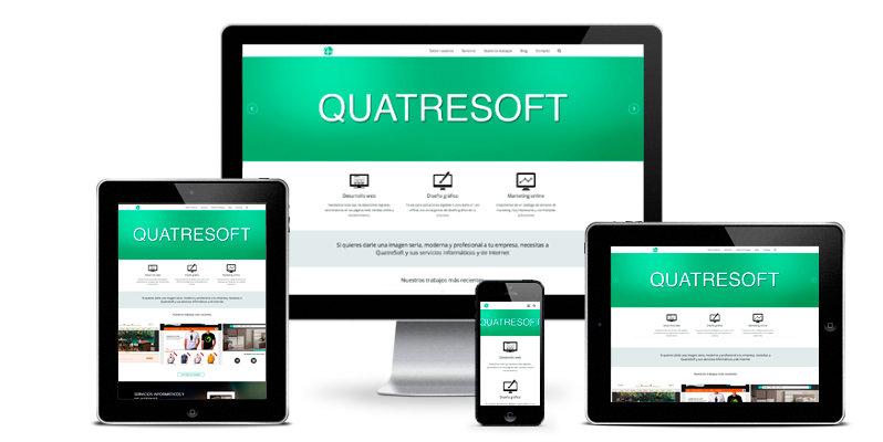 Consigue que tu página web tenga versión responsive con QuatreSoft