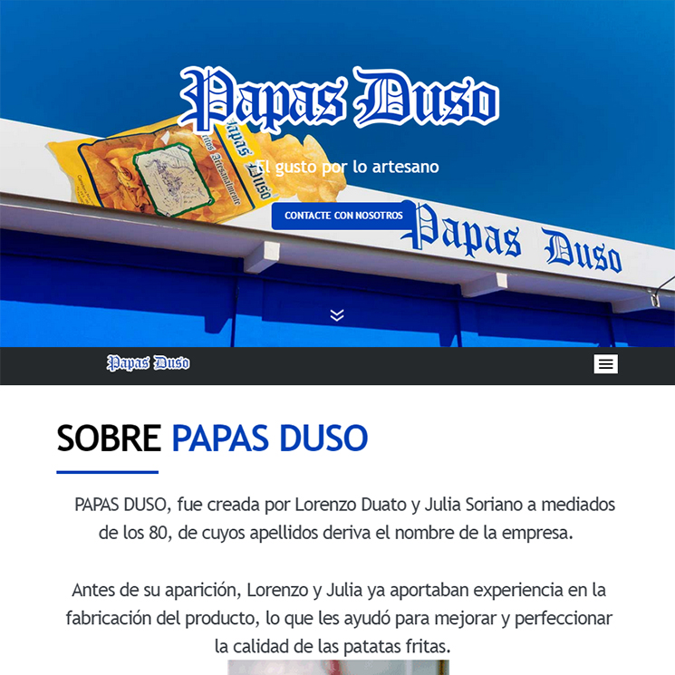Página web Papas Duso
