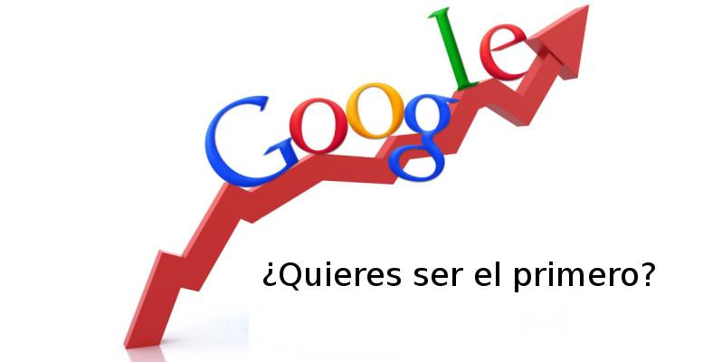¿Quieres ser el primero en Google?