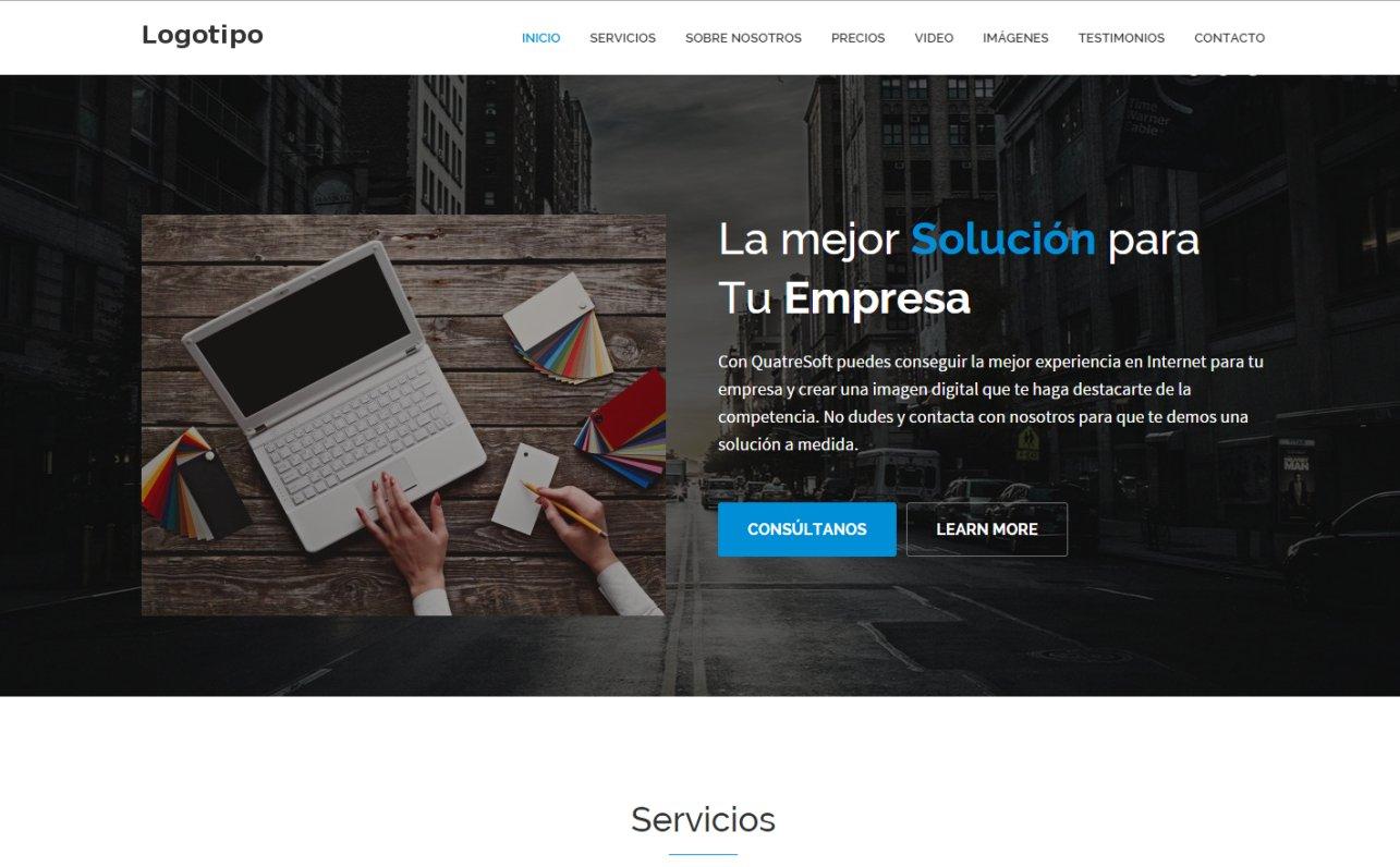 Plantilla 1 de página web estática | QuatreSoft