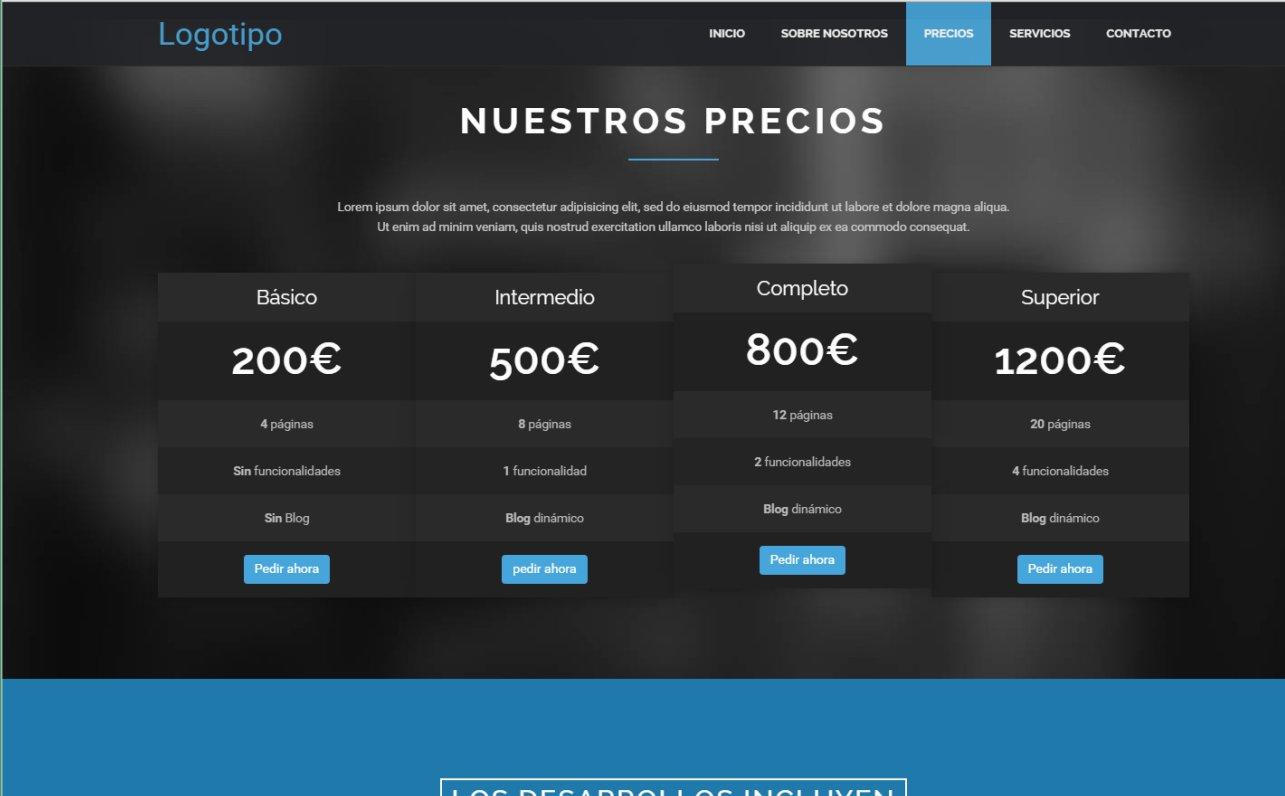 Plantilla 3 de página web estática | QuatreSoft