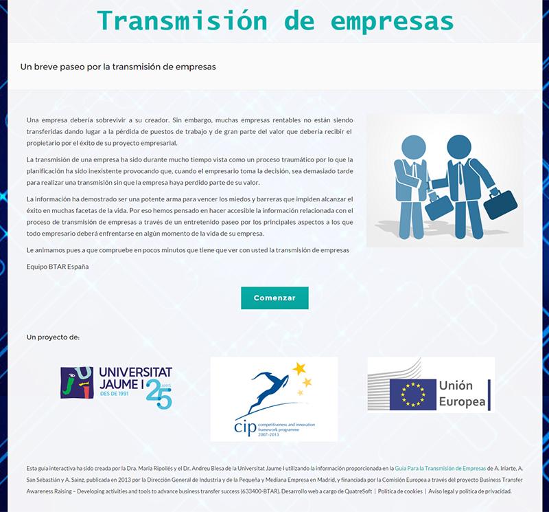 Guia interactiva sobre la transmisión de empresas