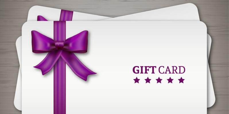 Tarjetas regalo en la tienda online