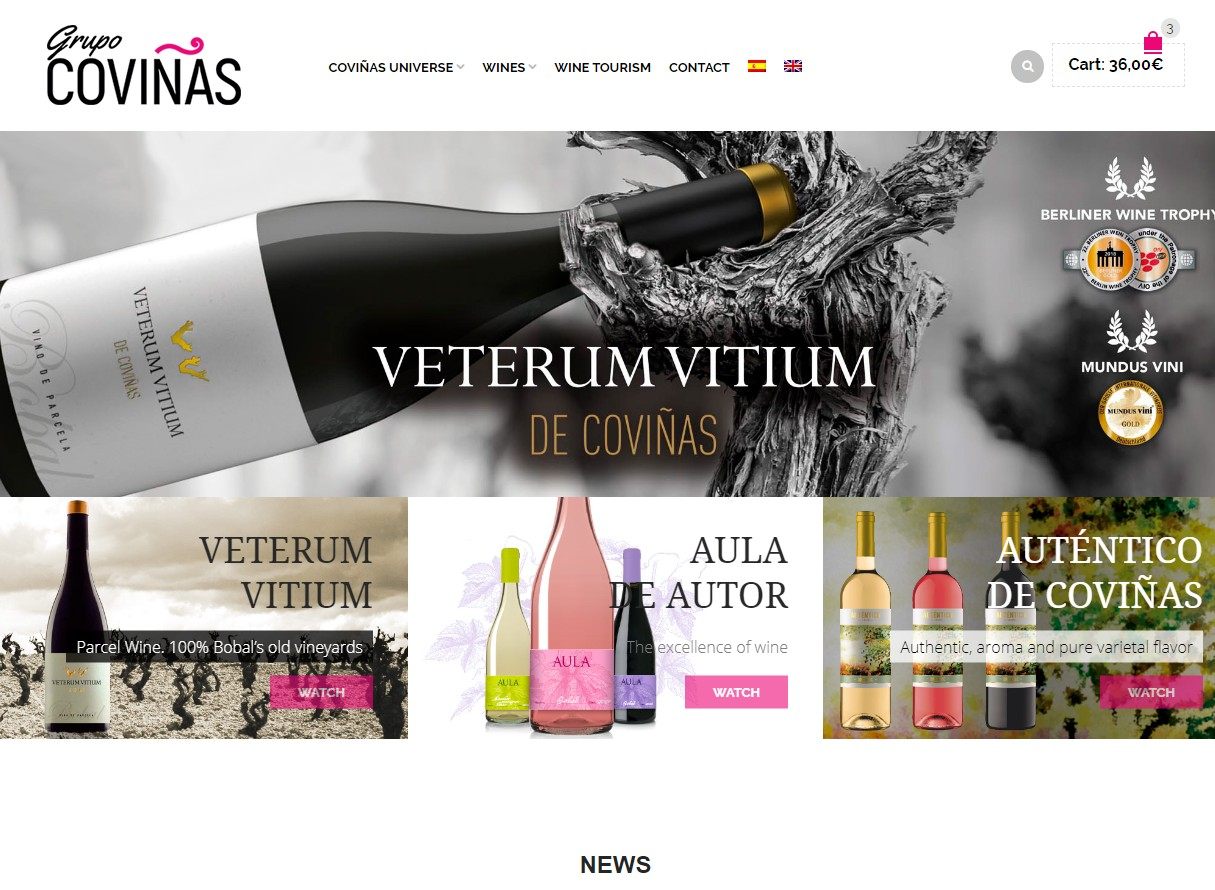 Página web Coviñas