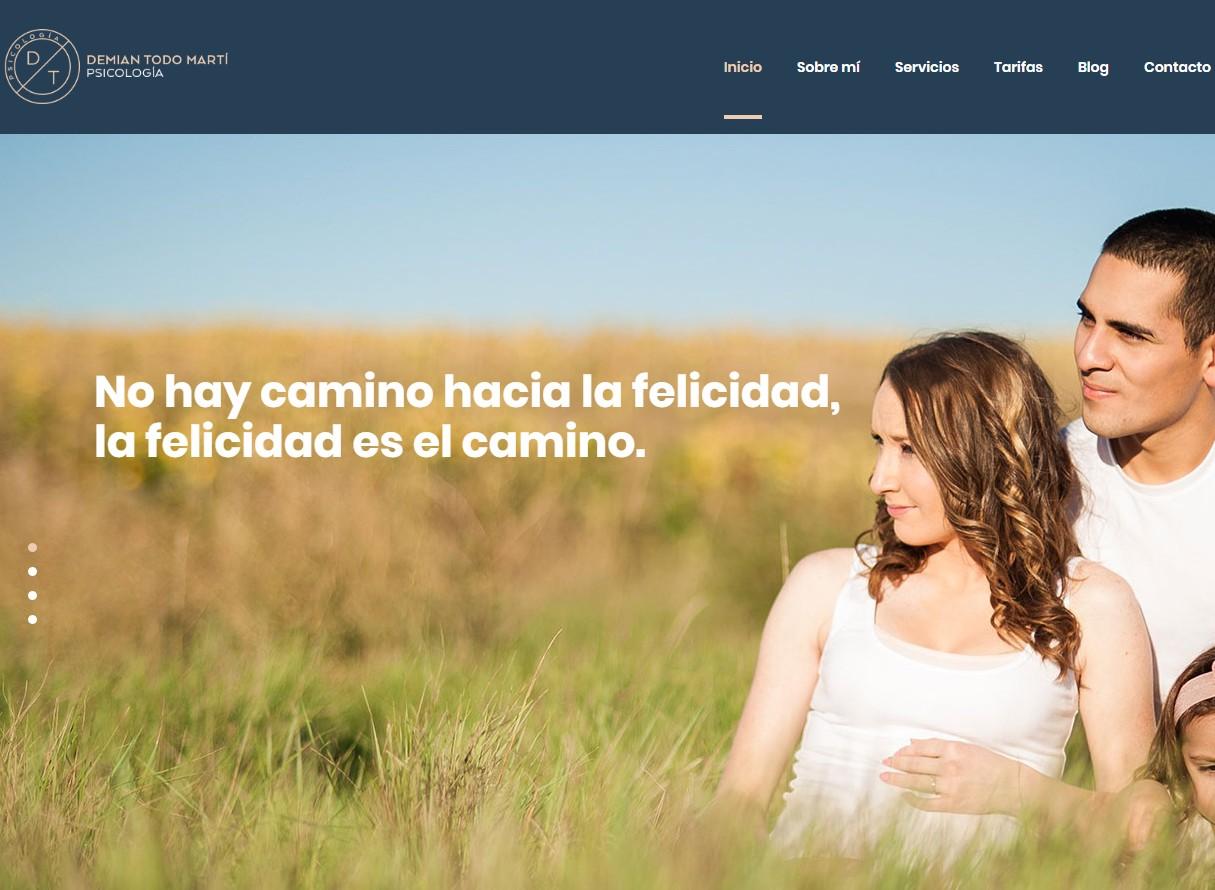 Página web Demian Psicología