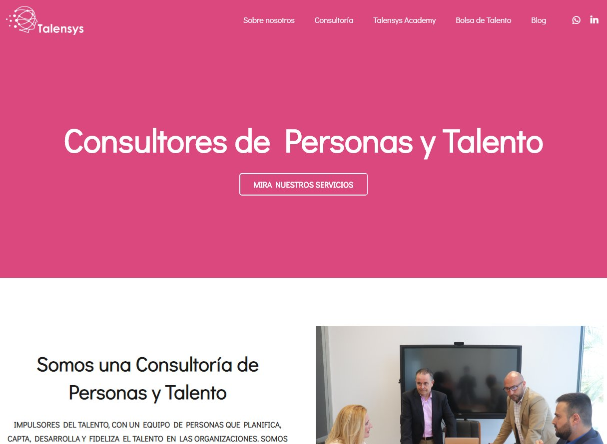Página web Talensys